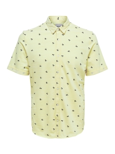 Only & Sons Polo onsCUTON SS KNITTED PIQUE AOP SHIRT 22013293 Mellow Yellow
