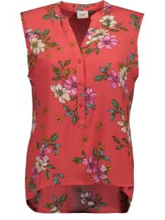 Jacqueline de Yong Top JDYTRICK TREATS S/L SHIRT WVN 15174354 Cayenne/PINK FLOWER