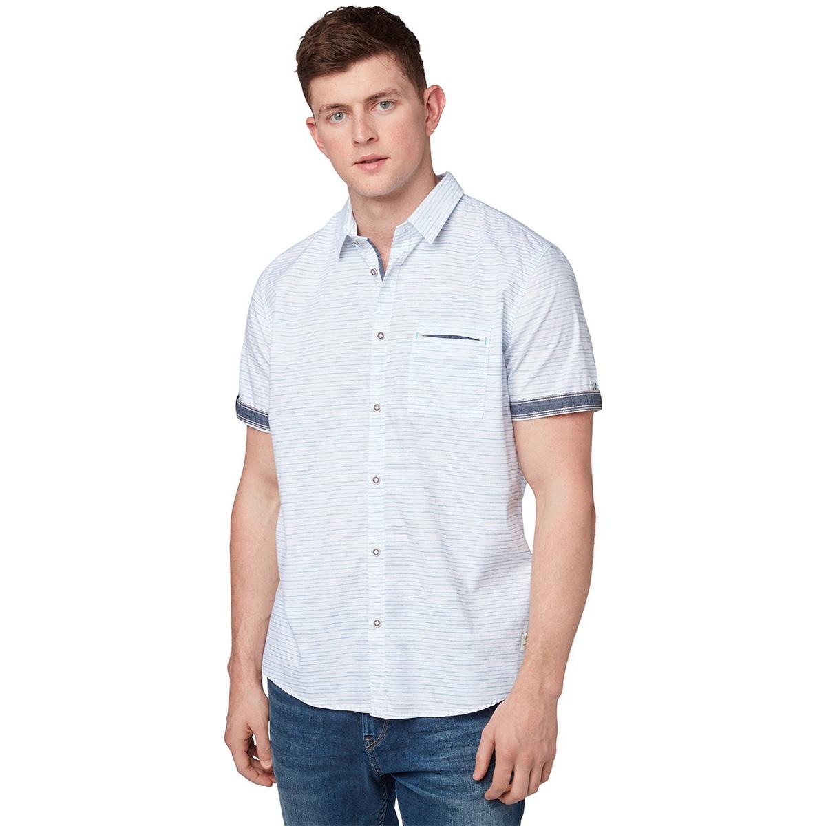 gestreept overhemd 1010110xx10 tom tailor overhemd 17297