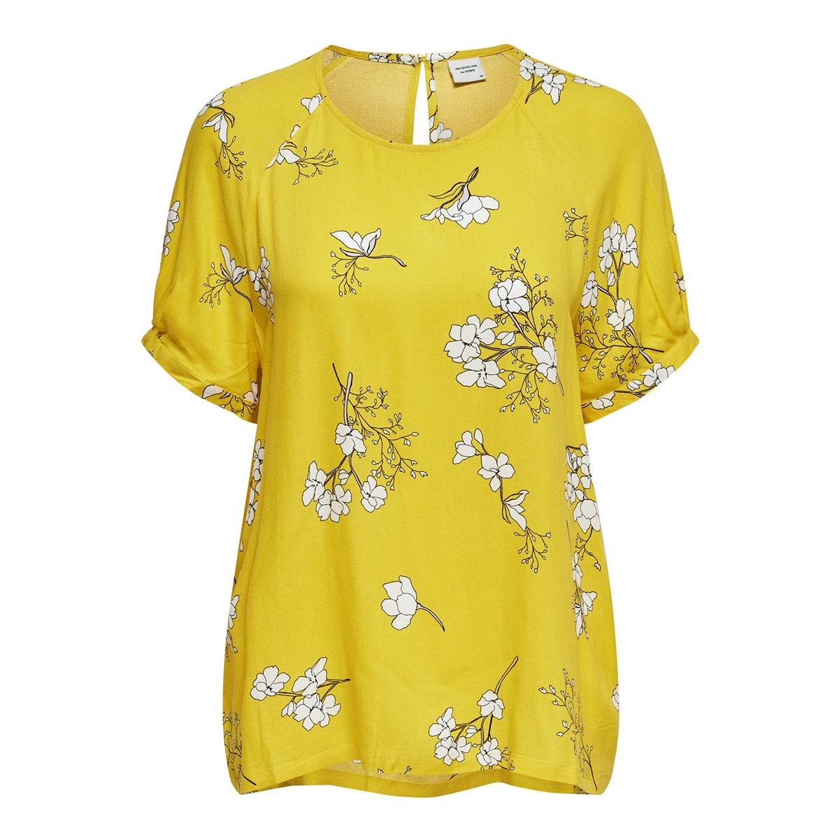 jdykenya 2/4 top wvn 15174485 jacqueline de yong blouse lemon/cloud dancer