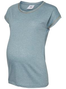 Mama-Licious Positie shirt MLISLA S/S JERSEY TOP 20009869 Smoke Blue/MELANGE