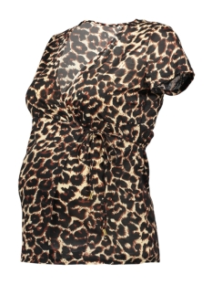 Mama-Licious Positie shirt MLLEO TESS S/S JERSEY TOP NF A. V. 20009945 Black/LEOPARD