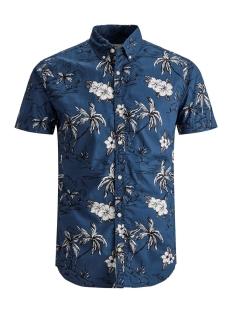 pktdek awesome aop shirt ss 12152882 produkt overhemd dark denim