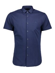 jprrome shirt s/s 12152758 jack & jones overhemd estate blue/slim fit