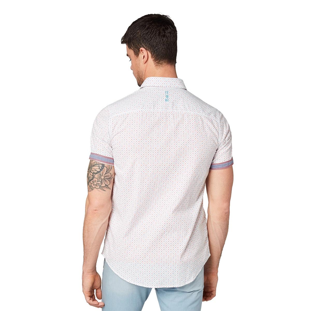 overhemd met all over print 1010113xx10 tom tailor overhemd 17153