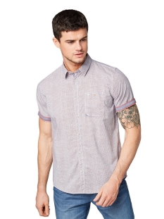 overhemd met all over print 1010113xx10 tom tailor overhemd 17155