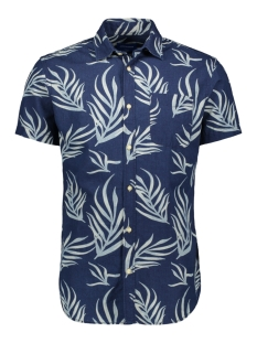 jorjax shirt ss org 12154514 jack & jones overhemd grey denim/slim