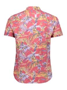 jorjax shirt ss org 12154514 jack & jones overhemd brick red/slim