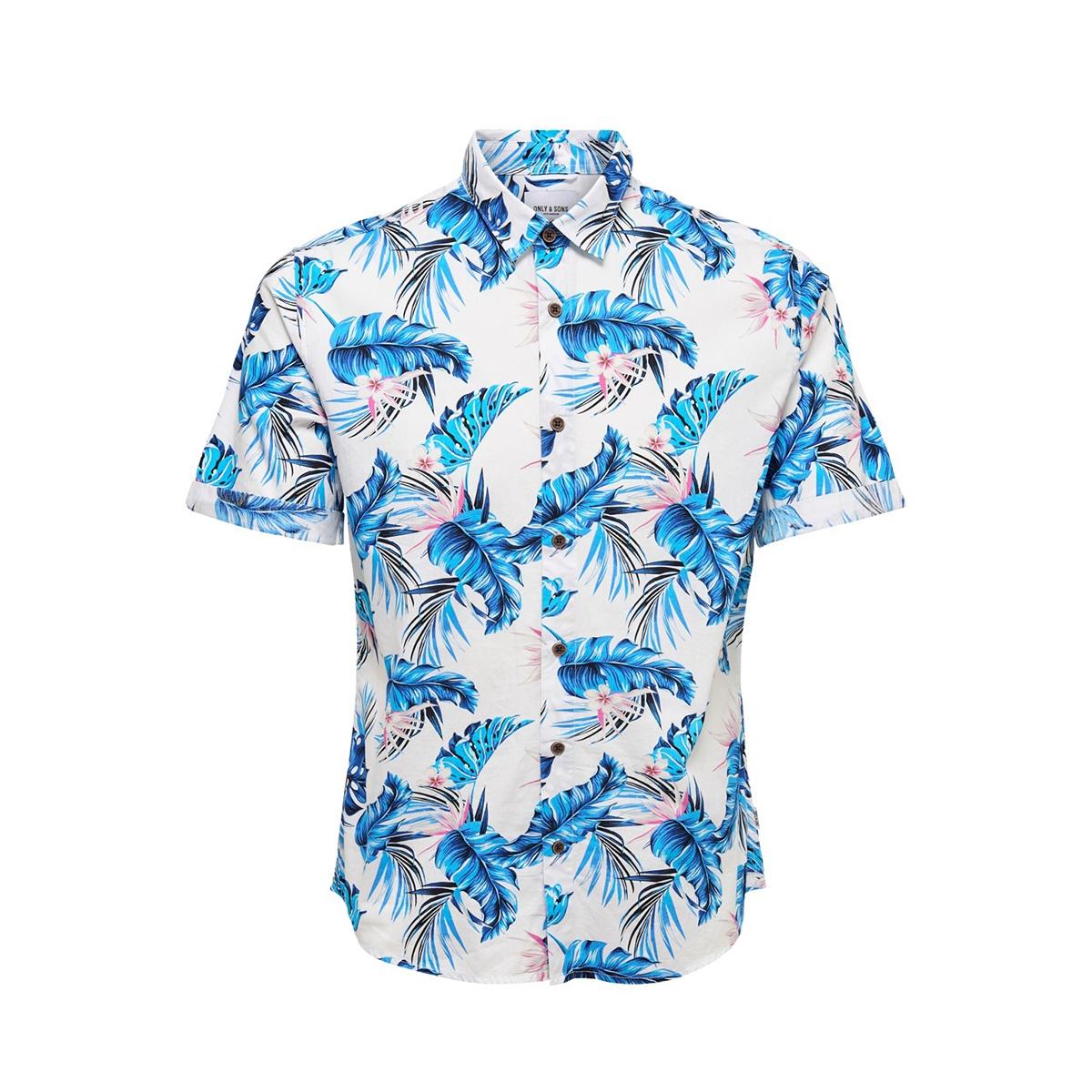 onslamar ss aop poplin shirt re 22013269 only & sons overhemd white