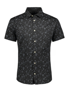Jack & Jones Overhemd JPRKINGSFIELD PRINT SHIRT S/S 12154826 Black Denim/SLIM FIT
