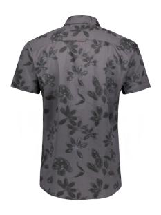 jprkingsfield print shirt s/s 12154826 jack & jones overhemd light blue denim/slim fit