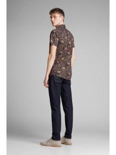 jprkingsfield print shirt s/s 12154826 jack & jones overhemd medium blue den/slim