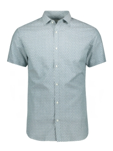 Jack & Jones Overhemd JPRSUMMER BLACKBURN SHIRT S/S 12152774 Arctic/SLIM FIT
