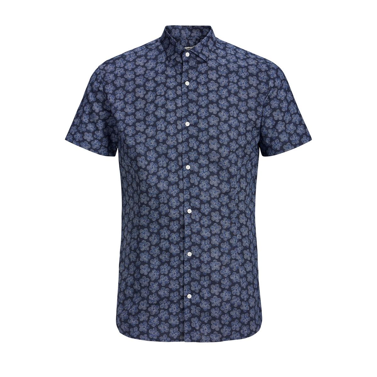 jprsummer blackburn shirt s/s 12152774 jack & jones overhemd navy blazer/slim fit