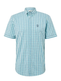 Tom Tailor Overhemd GERUIT OVERHEMD MET KORTE MOUWEN 1010871XX10 17667
