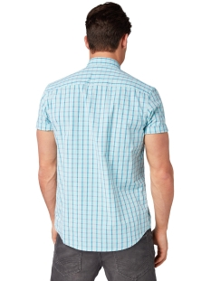 geruit overhemd met korte mouwen 1010871xx10 tom tailor overhemd 17667