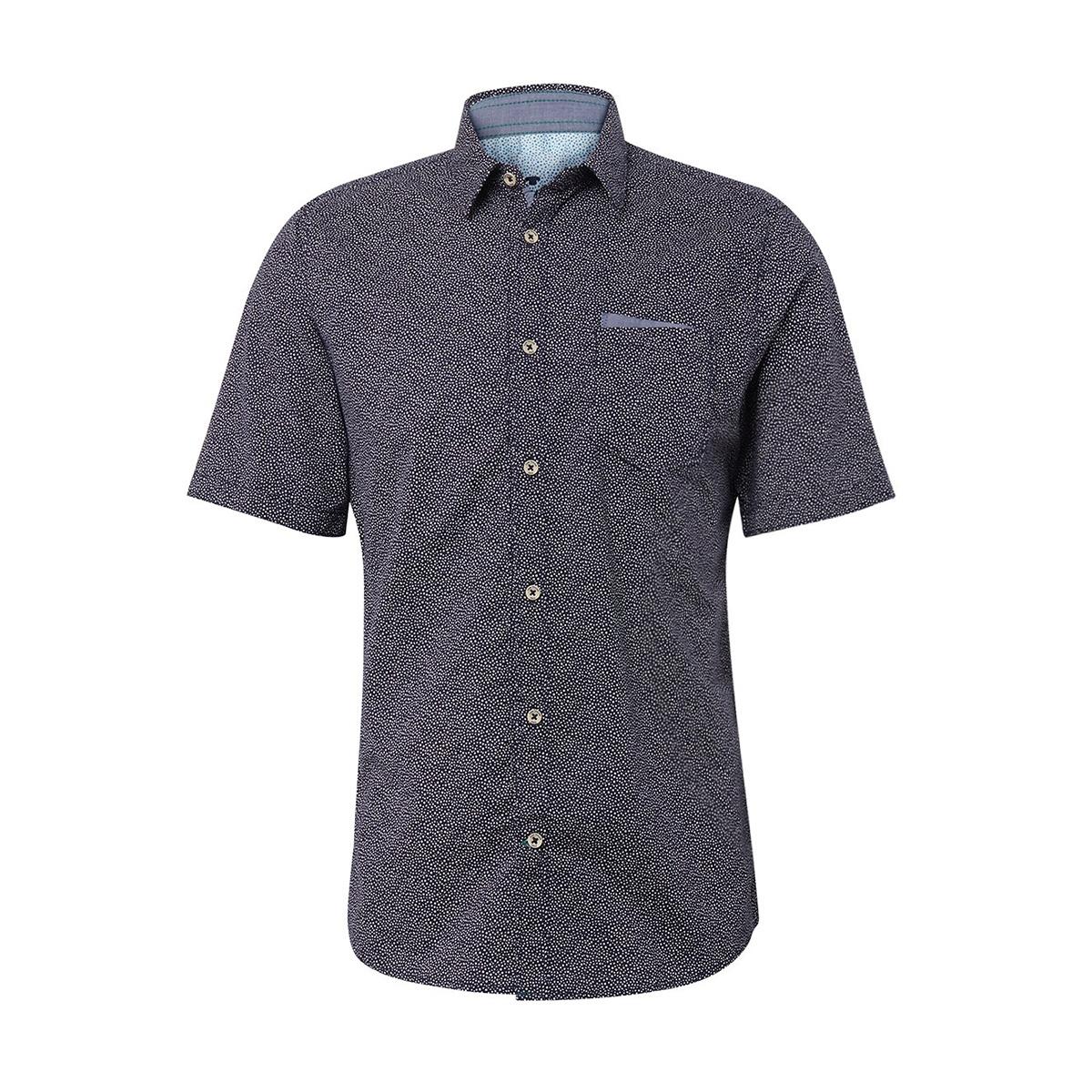 overhemd met stippen 1009973xx10 tom tailor overhemd 17434