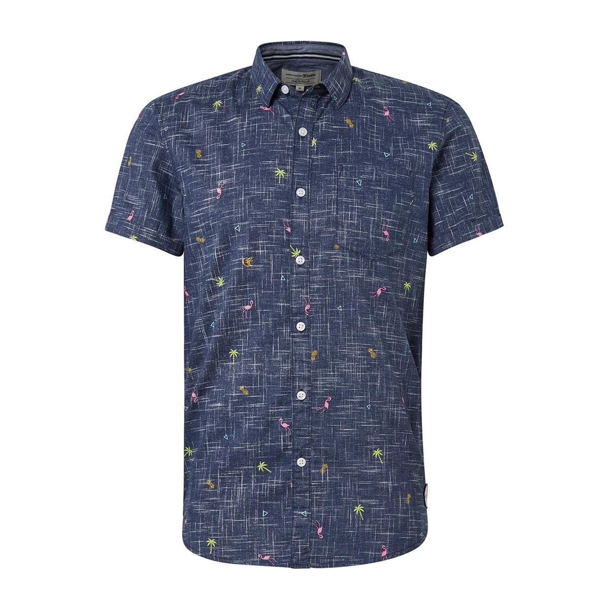 overhemd met all over print 1011877xx12 tom tailor overhemd 18290