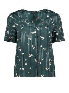 vmelva s/s v-neck shirt wvn ga 10217600 vero moda blouse ponderosa pine/elva