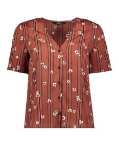 vmelva s/s v-neck shirt wvn ga 10217600 vero moda blouse mahogany/elva