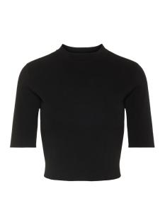 nmelliott s/s cropped t-neck knit 4 27007025 noisy may t-shirt black