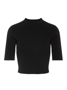 Noisy may T-shirt NMELLIOTT S/S CROPPED T-NECK KNIT 4 27007025 Black