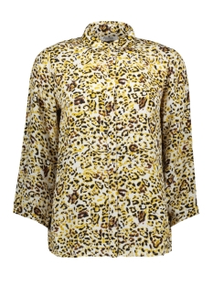 Pieces Blouse PCSUSSIE 3/4 SHIRT D2D 17101335 Bison AOP Leopard