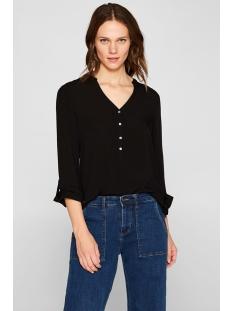 henley blouse met oprolbare mouwen 998ee1f802 esprit blouse e001 black