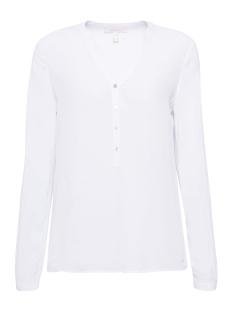 Esprit Blouse HENLEY BLOUSE MET OPROLBARE MOUWEN 998EE1F802 E100 WHITE