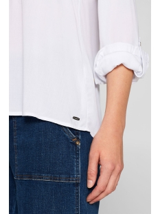 henley blouse met oprolbare mouwen 998ee1f802 esprit blouse e100 white