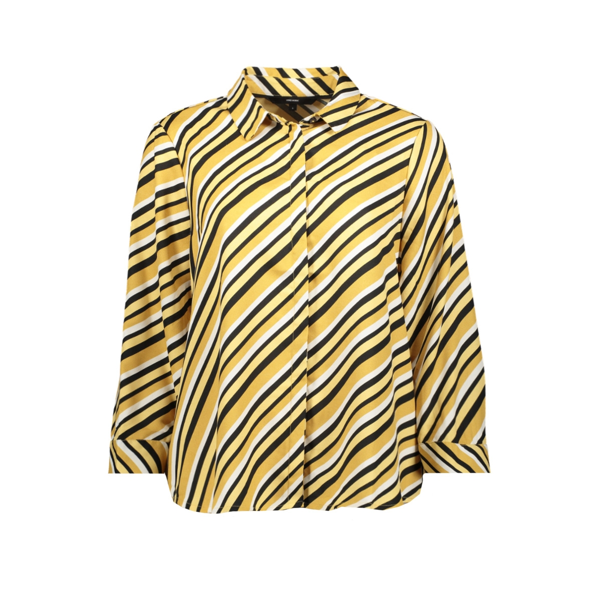 vmronja 3/4 shirt wvn ga ki 10219622 vero moda blouse amber gold/ronja