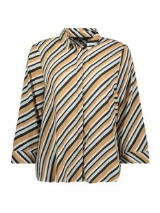 vmronja 3/4 shirt wvn ga ki 10219622 vero moda blouse tobacco brown/ronja