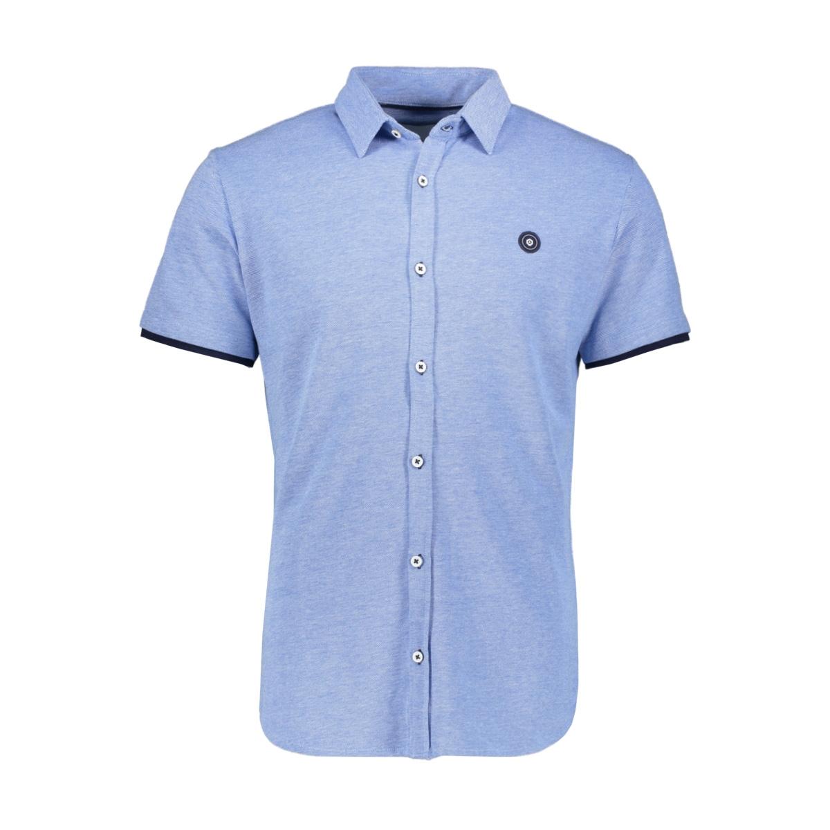 jcoadam shirt ss plain 12154667 jack & jones overhemd victoria blue/slim