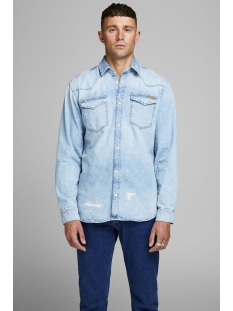 jjijames jjshirt cj 092 noos 12158524 jack & jones overhemd blue denim