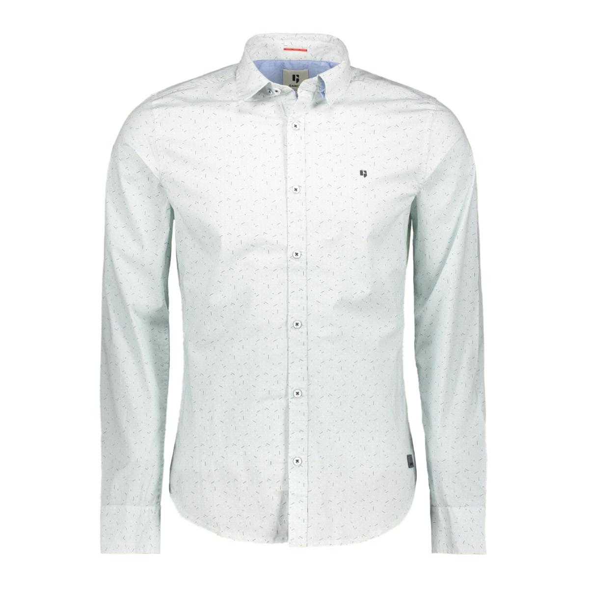 overhemd met all over print g91026 garcia overhemd 50 white