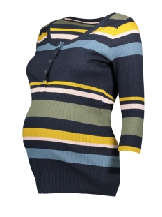 Mama-Licious T-shirt MLSOYA LIA 3/4 JERSEY TOP COMBI A. 20010078 Salute/Y/D STRIPE