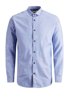 jprvictor shirt l/s noos 12158304 jack & jones overhemd cashmere blue/slim fit