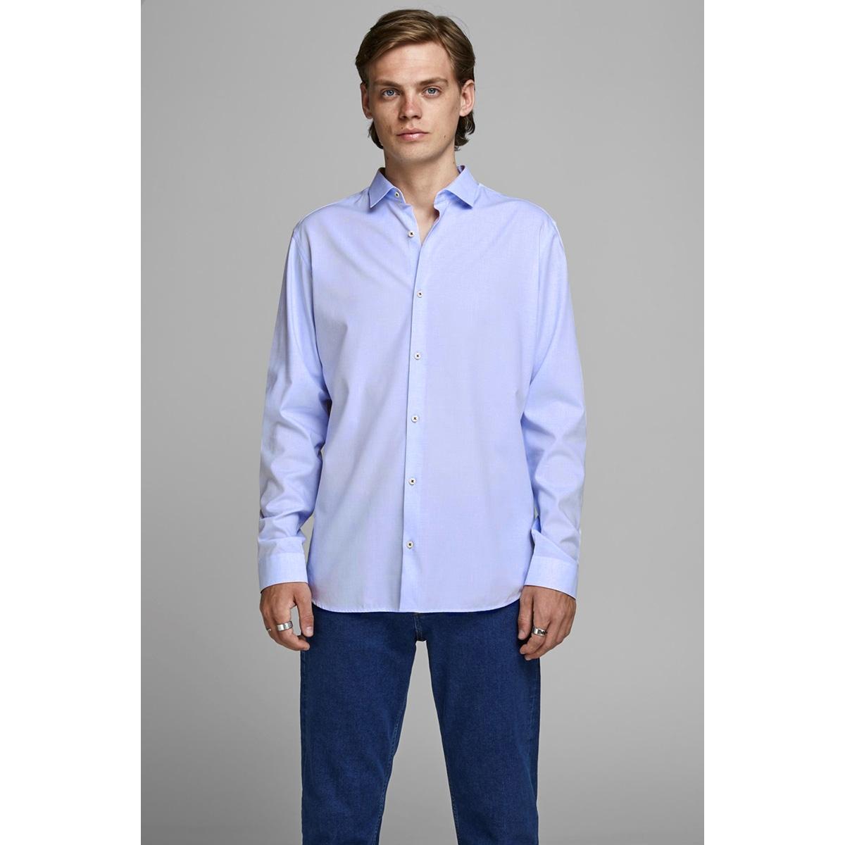 jprvictor shirt l/s noos 12158304 jack & jones overhemd cashmere blue/slim fit