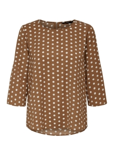 Only T-shirt ONLNOVA 3/4 SLEEVE TOP AOP LUX 7 WV 15187418 Ginger Bread/PRETTY DOT