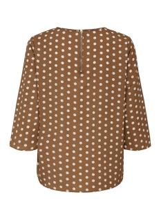 onlnova 3/4 sleeve top aop lux 7 wv 15187418 only t-shirt ginger bread/pretty dot