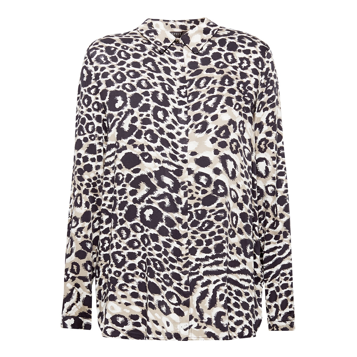overhemdblouse met luipaardprint 089eo1f009 esprit blouse e240