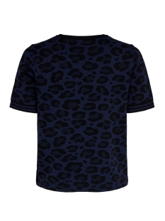 onlzandra s/s pullover knt 15183661 only trui night sky/w. black