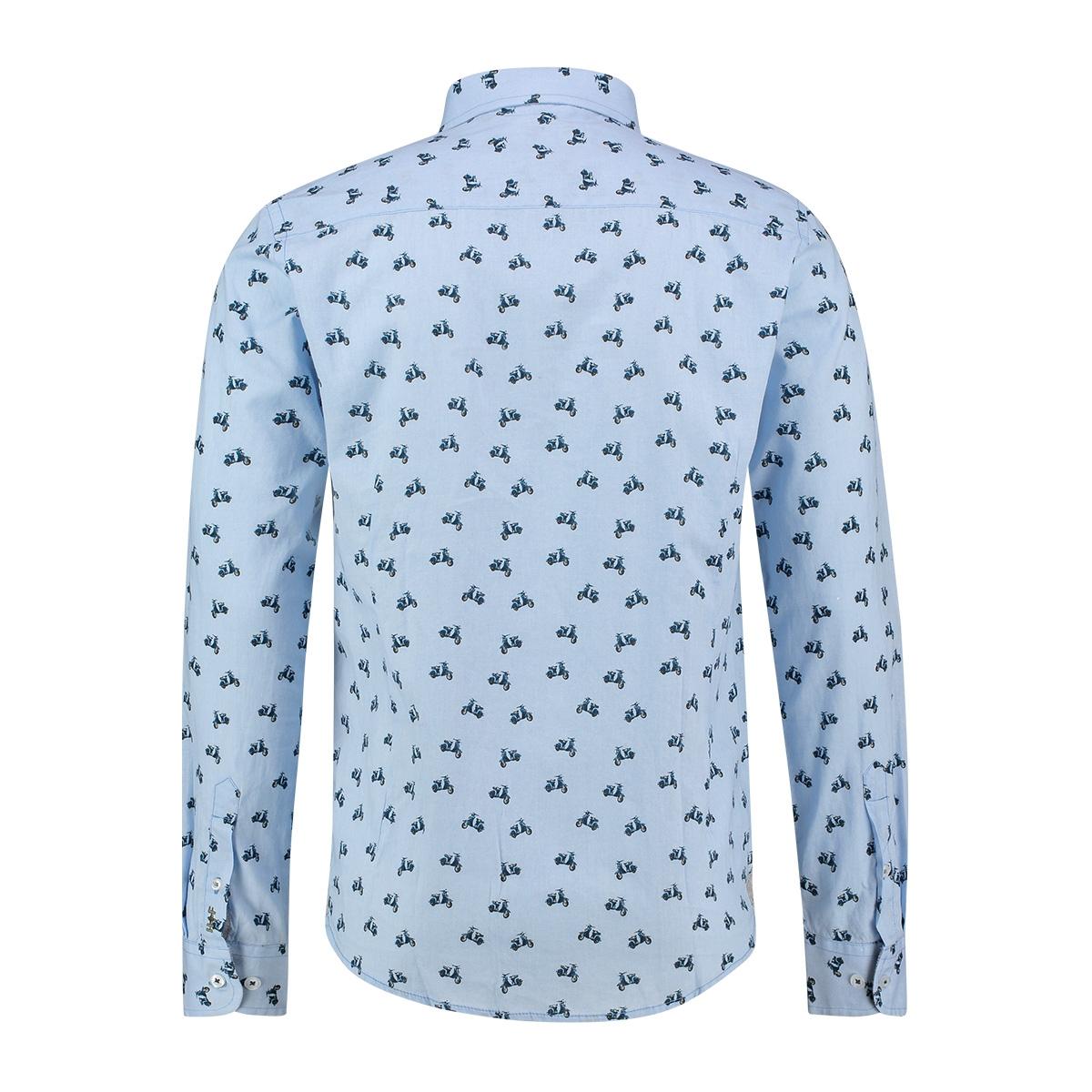 shirt aop stretch mc12 0100 24 haze & finn overhemd scooter