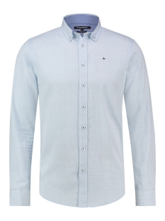 Haze & Finn Overhemd MC12 0101 01 SHIRT AOP STRETCH BLUE SPARKLE