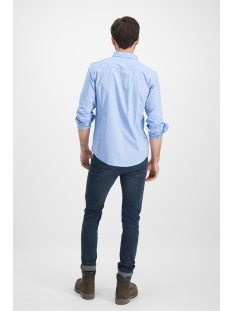 shirt aop stretch mc12 0100 20 haze & finn overhemd blue bird