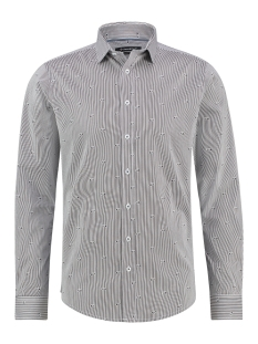 Haze & Finn Overhemd MC12 0100 34 SHIRT AOP STRETCH NEMO STRIPE
