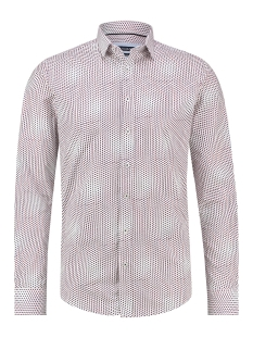 Haze & Finn Overhemd SHIRT AOP STRETCH MC12 0100 37 DOT ILLUSION