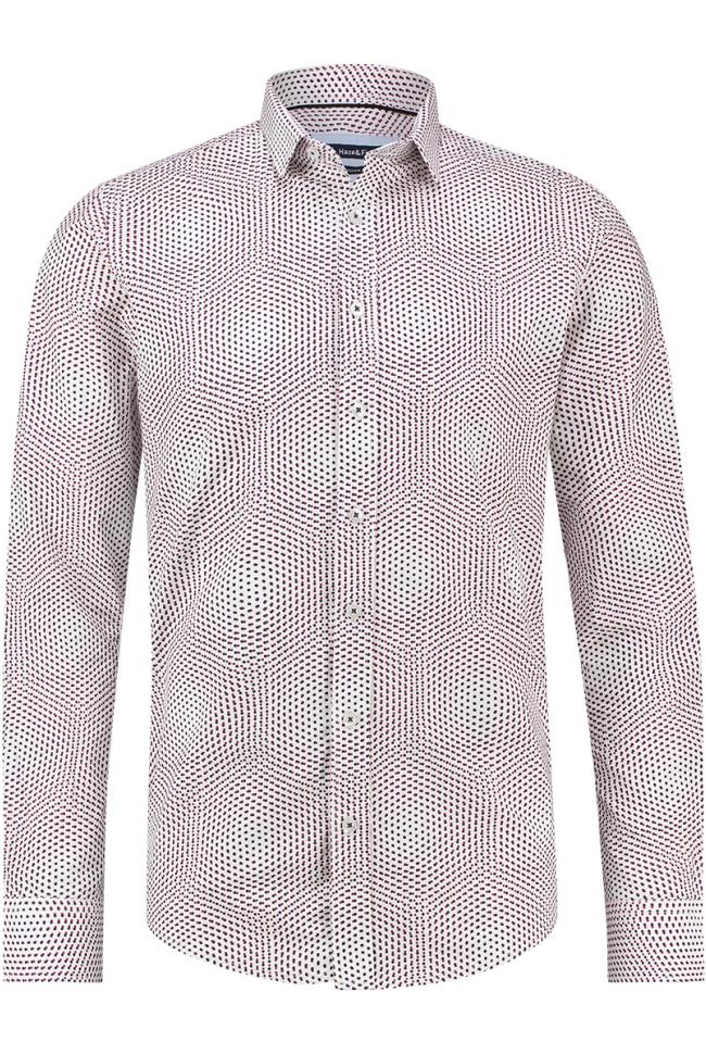 shirt aop stretch mc12 0100 37 haze & finn overhemd dot illusion
