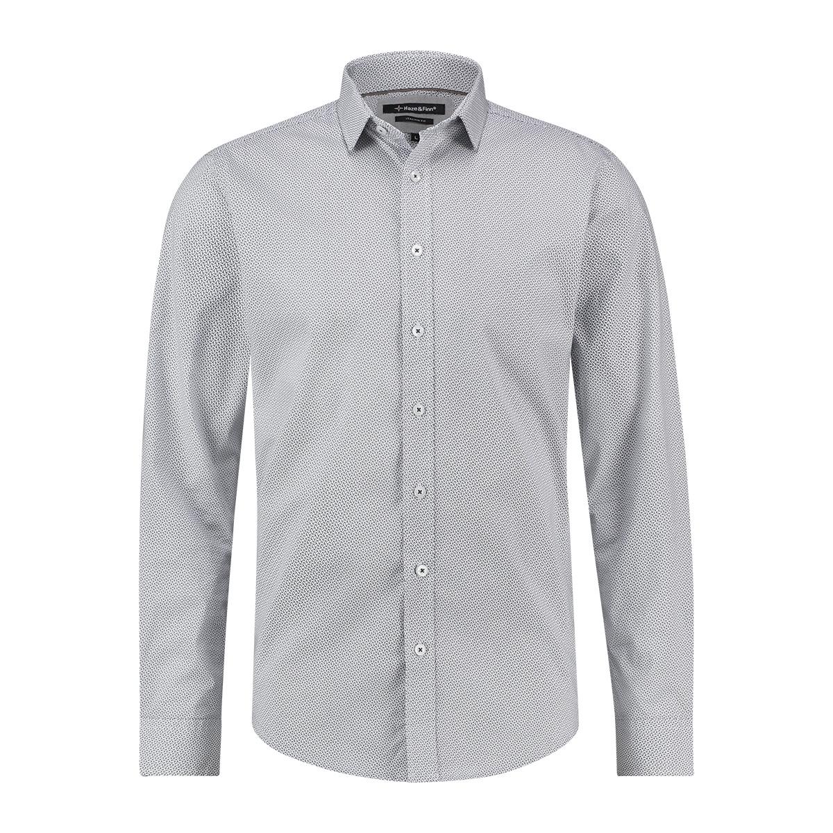 shirt aop stretch mc12 0100 35 haze & finn overhemd bamboo