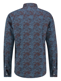 hirt aop stretch mc12 0100 21 s haze & finn overhemd blue jungle